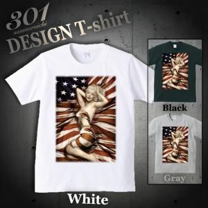 Tシャツ メンズ 半袖 ブランド ユニセックス マリリンモンロー  Uネック プリントTシャツ|301-shop