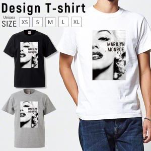 Tシャツ メンズ 半袖 ブランド ユニセックス ペア マリリンモンロー おしゃれ  Uネック プリントTシャツ|301-shop
