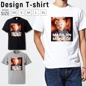 Tシャツ メンズ 半袖 ブランド ユニセックス マリリンモンロー レトロ おしゃれ  Uネック プリントTシャツ|301-shop