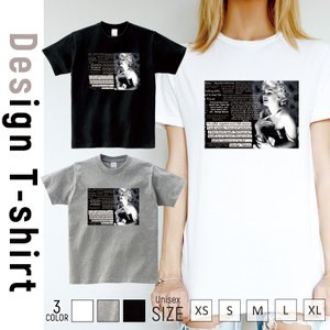 Tシャツ メンズ 半袖 ブランド ユニセックス マリリンモンロー 海外 セレブ  Uネック プリントTシャツ|301-shop