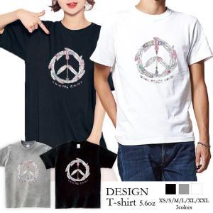 Tシャツ レディース 半袖 トップス ブランド ユニセックス メンズ プリントTシャツ ペア カップル 羽根 BOHO エスニック PEACE LOVE 301-shop