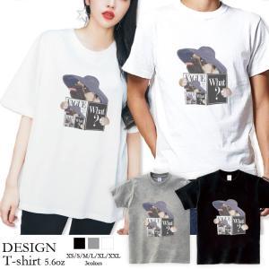 Tシャツ レディース 半袖 トップス ブランド ユニセックス メンズ プリントTシャツ ペア パグ Pug 犬 VAGUE ファッションPug 301-shop