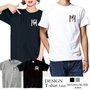 Tシャツ メンズ 半袖 ブランド ユニセックス  Uネック プリントTシャツ おしゃれ ペア パグ Pug Hにぶら下がるパグ 可愛い 301-shop
