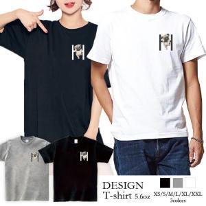 Tシャツ レディース 半袖 トップス ブランド ユニセックス メンズ プリントTシャツ ペア パグ Pug Hにぶら下がるパグ 可愛い 301-shop
