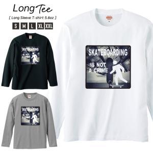 Tシャツ メンズ ロンT 長袖 Uネック Skateboard スケボー ニューヨーク ブルックリン ストリート カッコイイ|301-shop