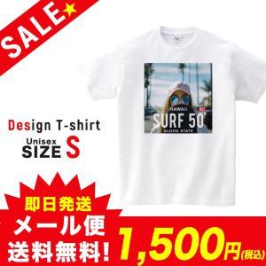 SALE Tシャツ 半袖 2019新作 ユニセックス レディース メンズ プリントTシャツ セール サーフガール SURF 50 ALOHA ホワイト S 301-shop