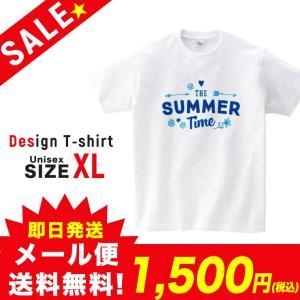 SALE Tシャツ 半袖 2019新作 ユニセックス レディース メンズ プリントTシャツ セール Summer time ロゴ 夏 ホワイト XL 301-shop