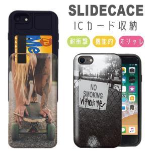 スマホケース iPhone11 ケース Pro Max 耐衝撃 iPhone XR XSMAX 背面ICカード収納 iPhone8 7 6s/6 Plus タトゥー スケボー|301-shop