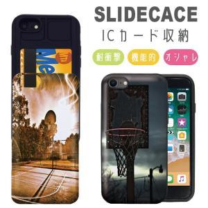スマホケース iPhone11 ケース Pro Max 耐衝撃 iPhone XR XSMAX 背面ICカード収納 iPhone8 7 6s/6 Plus バスケ コート|301-shop