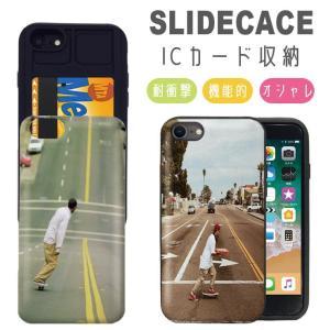 スマホケース iPhone11 ケース Pro Max 耐衝撃 iPhone XR XSMAX 背面ICカード収納 iPhone8 7 6s/6 Plus スケボー スケートボード|301-shop