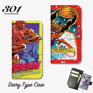 iPhone6s 手帳 横 iPhone 11 Pro 手帳型ケース iPhoneXR XS basketball バスケ cool 人気 バスケットボール おしゃれ|301-shop