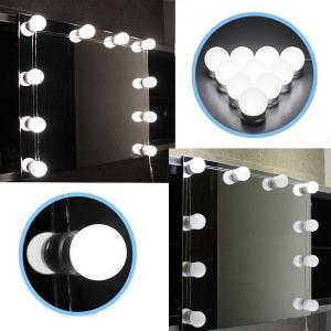 簡単にDIY 女優ミラー 10LED ハリウッドスタイル LEDバニティミラーライトキット メイクアップ LEDライト 照明洗面台 化粧台