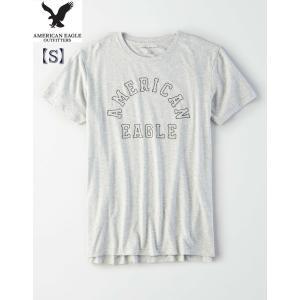 AEO men's 【S】 サイズ  GRAY ロゴ T-Shirt 半袖  Tシャツ アメリカンイ...