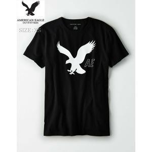 AEO アメリカンイーグル メンズ【XS.size】  ブラック ホワイト   グラフィック T シ...