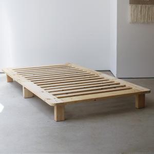 ベッドフレーム ベット シングル 無垢材(パイン材) ヘッドレス すのこベッド 北欧 シンプル ナチュラル MTS-067