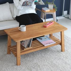 センターテーブル ローテーブル オーク 木製 棚付き W100×D45(cm) MTS-088|3244p
