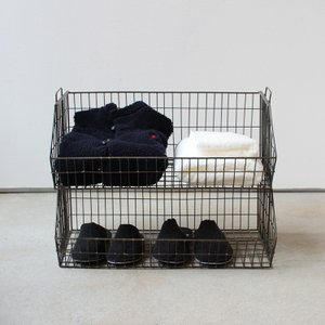 Wire Stacking Basket Wide ワイヤースタッキングバスケット 3277W Detail|3244p