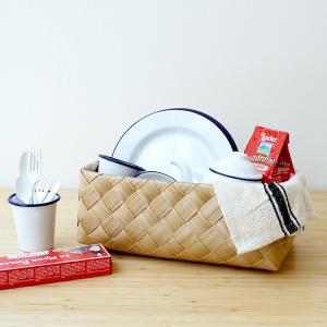 Timb.(ティム)レクタングル M マロン stacksto スタックストー 収納 ボックス  洗える バスケット おもちゃ収納