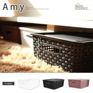 フタ付きバスケットボックス アミー S Amy ホワイト ブラック ブラウン LFS-691|3244p