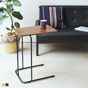 アーロンサイドテーブル END-222BR END-222NA ROOM ESSENCE アイアン シンプル インテリア 便利 ベッドサイド ソファサイド 木 スチール 3244p