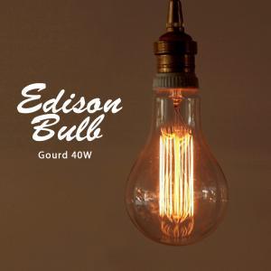 Edison Bulb Gourd  エジソンバルブ グード / 40W / 60W /E26|3244p