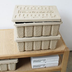Molded Pulp Box S (モールデッドパルプボックス S) rs036 W400×H153×D300(mm)|3244p