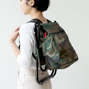 Camo Backpack Stool カモバックパックスツール KCD132 DETAIL ディテール KIKKERLAND キッカーランド 座れるリュック 座れるバックパック|3244p