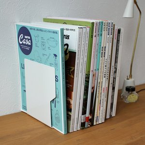 スチールブックエンド(L) Steel Bookends - L ハイタイド HIGHTIDE ez013 (ブラック ホワイト)|3244p
