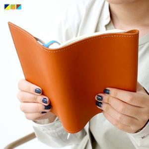 TIDEWAY Book Cover 文庫本用 ブックカバー しおり付き タイドウェイ 日本製 レザー ブラウン カーキ ネイビー|3244p