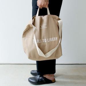 トートバッグ ベージュ TOOLS to LIVEBY Tote Bag ツールズ トゥ リブバイ トートバッグ 2WAY HIGHTIDE ハイタイド TL036|3244p