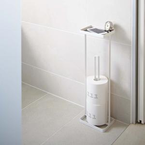 シンプル&モダンなデザインでサニタリー用品を収納するタワーシリーズ。 携帯電話などが置けるトレイが付...