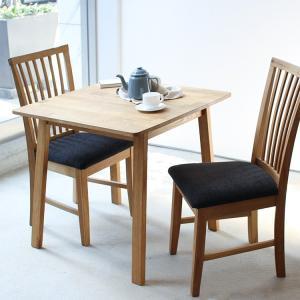 ダイニングテーブルセット 3点 2人 オーク テーブル W750 チェア2脚セットMTS-087、MTS-092|3244p