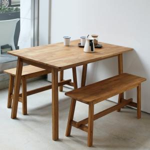 ダイニングテーブルセット 3点 4人 ダイニング3点セット オーク テーブル W1200 ベンチ 2台セットMTS-086、MTS-090|3244p