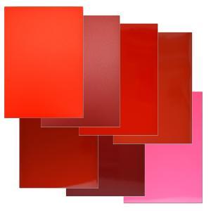 ラップフィルム1080シリーズ赤系8枚セット当店規格品297mm×210mm(A4サイズカラー別)|3333-mmmstore