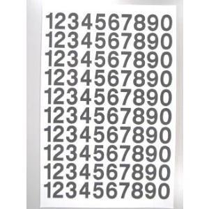 切文字/数字 規格品 H=15mm 0〜9各10面付/シート|3333-mmmstore