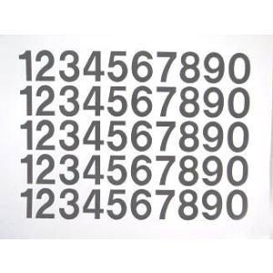 切文字/数字 規格品 H=25mm 0〜9各5面付/シート|3333-mmmstore