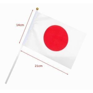日本の国旗 手旗サイズ 5本入 ミニ スポーツ観戦 日本代表応援用 式典 送迎 公式行事にも 送料無料 34618