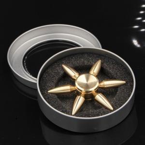 ハンドスピナー 弾丸 純銅製 高速回転 ストレス解消  取り外し レア品  大人のおもちゃ 送料無料 34618