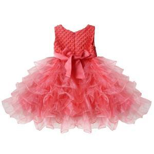 こどもドレス 女の子 女児ドレス ふわふわチュチュスカート ビーズの上着 リボン飾り 結婚式 発表会 フォーマル 7色 70|34618