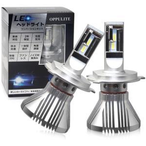 H4 LED 車検対応可能な配光:Loビームは精密配光設計を加えた遮光板でしっかりカットラインが出て...