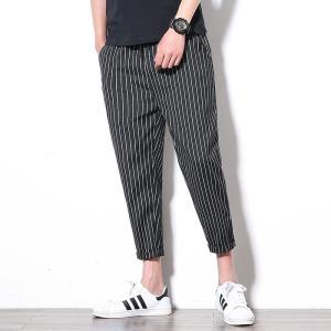 ジョガーパンツ メンズ カジュアルパンツ カーゴパンツ 夏季 通気性 ブラック/グレー|34618