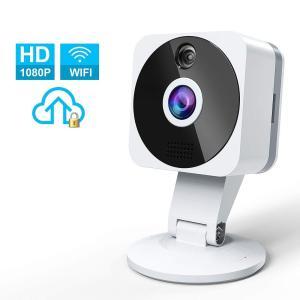 ネットワークカメラ wifi 1080P 200万画素監視カメラ 小型防犯カメラ 広角 ipカメラ ワイヤレス 暗視 動体検知 双方向音声 屋内用 34618