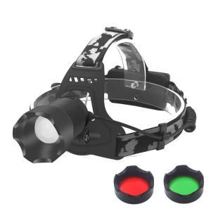 ヘッドライト LED 後部認識灯 ライトヘッドライト ズーム機能/角度調節 点灯3モード(強・弱・点滅/SOS)防水 耐衝撃 アウトドア キャンプ ハンティング 防災の画像