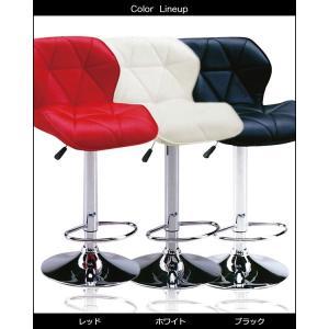カウンターチェア バーチェア チェア チェアー バーチェアー 合成皮革 昇降式 椅子 いす イス レザー 黒 白 赤 シンプル 安い|35plus|03