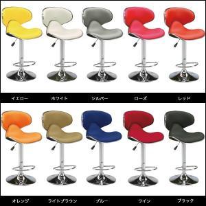 カウンターチェア バーチェア チェア チェアー バーチェアー 合成皮革 レザー 昇降式 椅子 いす イス シンプル 回転 安い|35plus|03