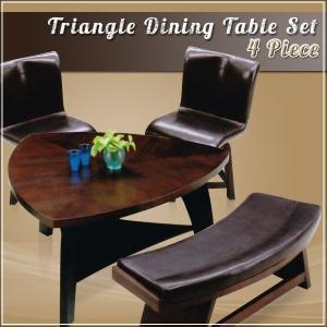 ダイニングテーブルセット 4人用 おしゃれ ベンチ チェア 回転式|35plus