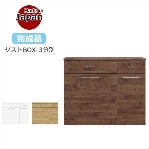 ゴミ箱 キッチンカウンター ダストボックス 45L 3分別 キャスター付き ダストBOX おしゃれ ごみ箱 国産|35plus