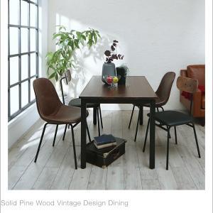テーブル ダイニングテーブル おしゃれ デスク カフェテーブル 幅120cm 木製 天然木 モダン 無垢|35plus|05