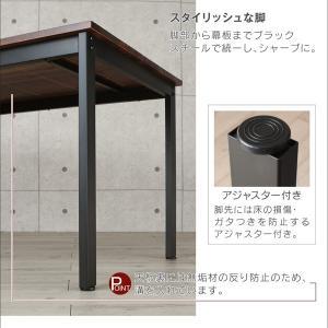 テーブル ダイニングテーブル おしゃれ デスク カフェテーブル 幅120cm 木製 天然木 モダン 無垢|35plus|07