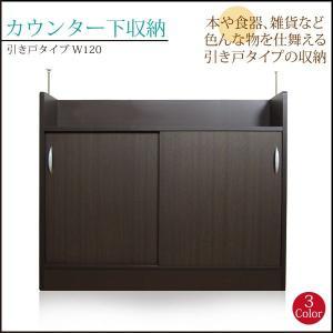 カウンター下収納 引き戸 薄型 カウンター下 収納    家具の写真